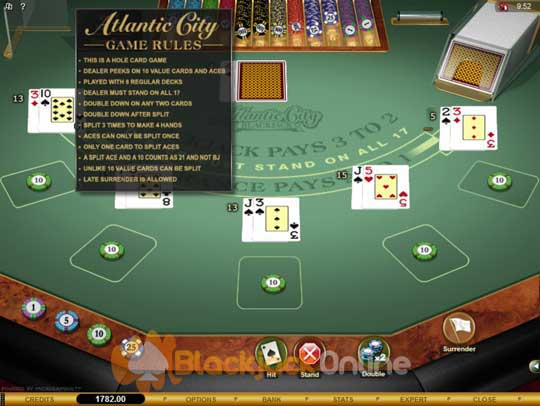 blackjack dealer regeln