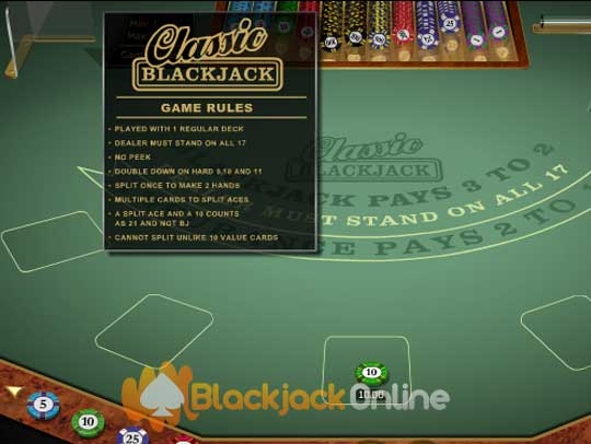 blackjack dealer regeln